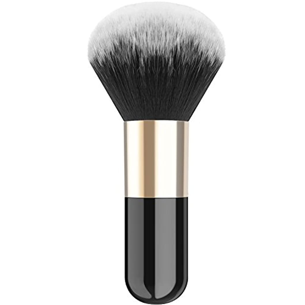 助けてヘリコプターマークされたファンデーションブラシ - Luxspire メイクブラシ 化粧筆 コスメブラシ 繊細な人工毛 毛質やわらかい 肌に優しい - Black