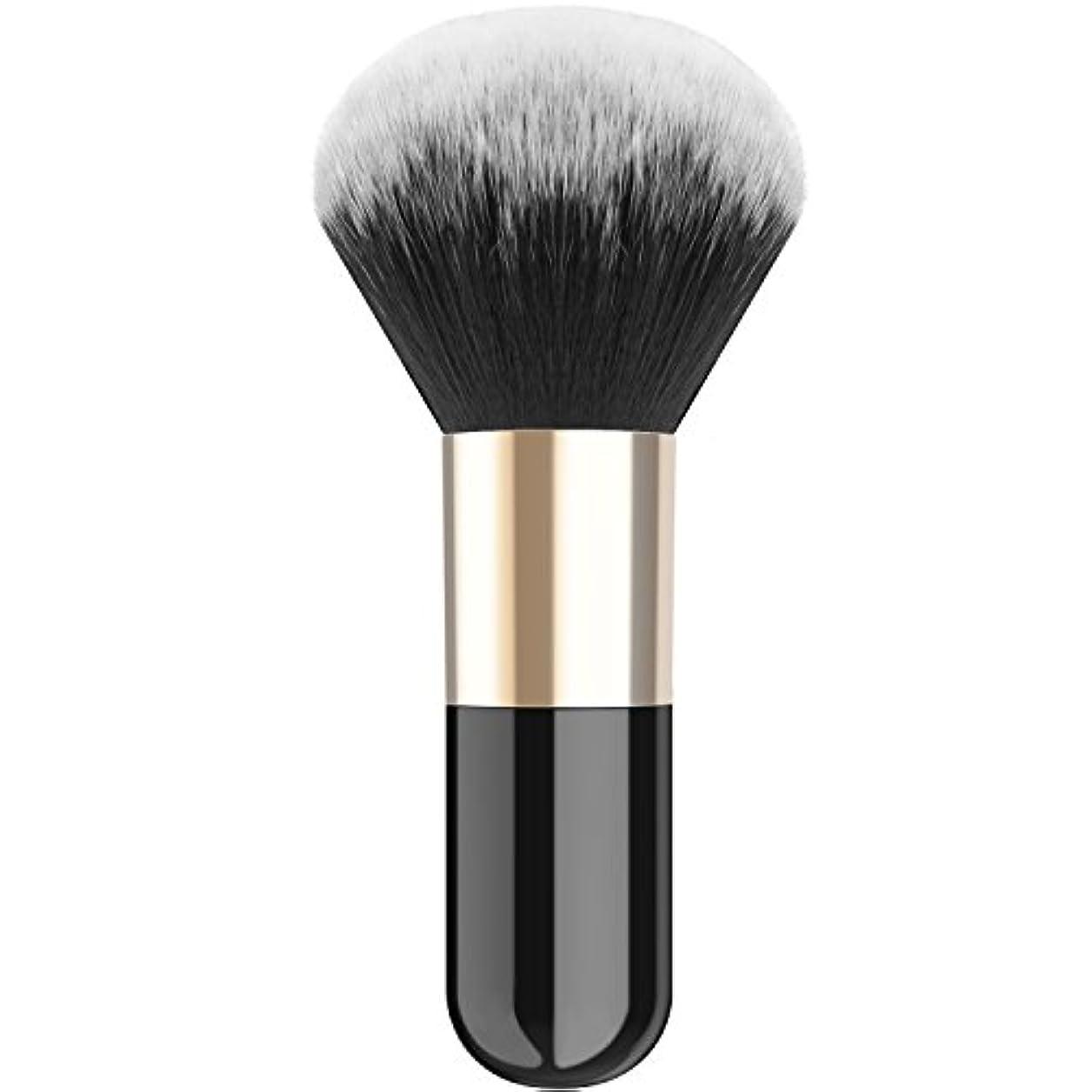 優れたと遊ぶ意外ファンデーションブラシ - Luxspire メイクブラシ 化粧筆 コスメブラシ 繊細な人工毛 毛質やわらかい 肌に優しい - Black