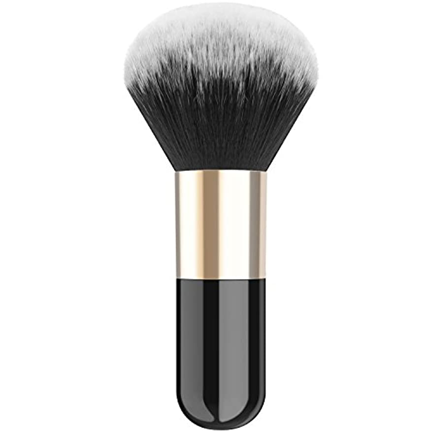 不毛の結婚どちらかファンデーションブラシ - Luxspire メイクブラシ 化粧筆 コスメブラシ 繊細な人工毛 毛質やわらかい 肌に優しい - Black