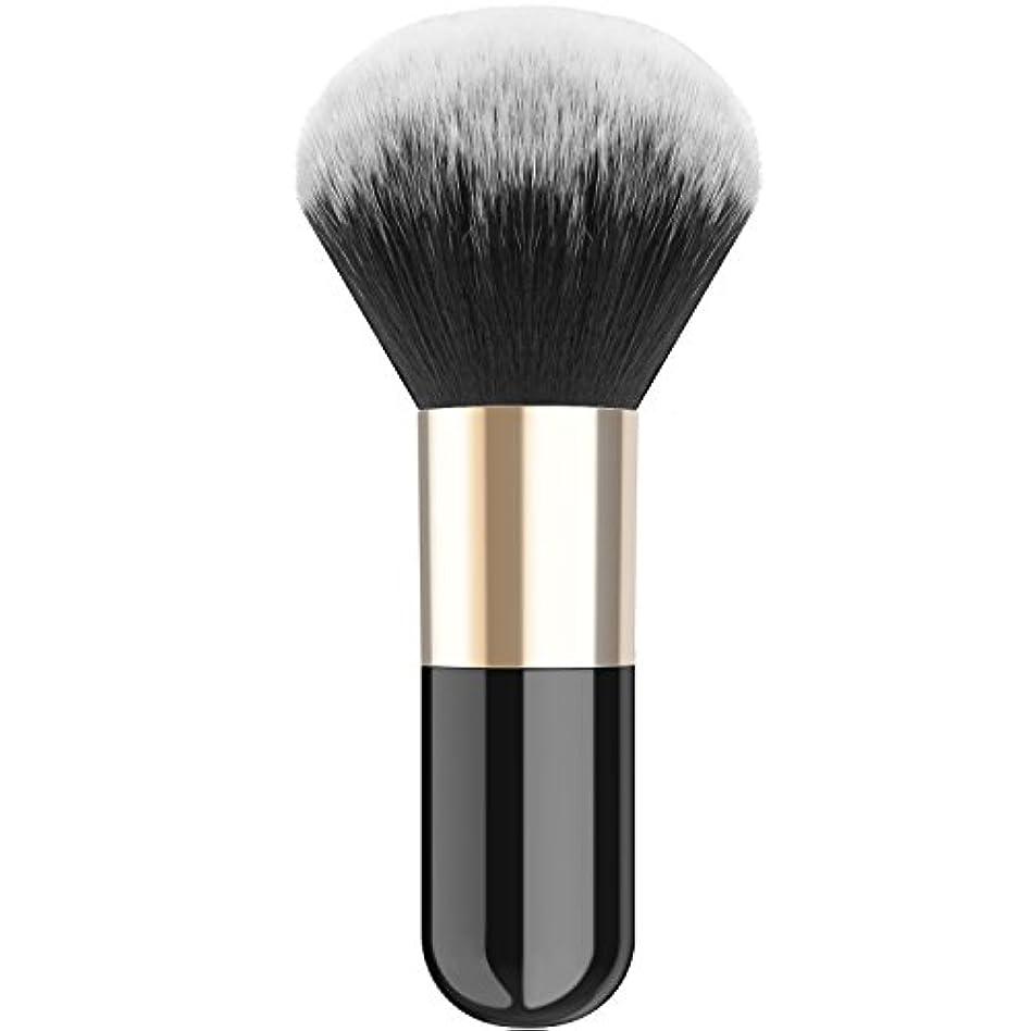 ピアノピッチ徐々にファンデーションブラシ - Luxspire メイクブラシ 化粧筆 コスメブラシ 繊細な人工毛 毛質やわらかい 肌に優しい - Black