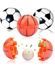 Amycute アロマ アロマボール 香り玉 4点セット (18mm)750g 丸型 サッカー&バスケットボールデザイン 香りが長続き