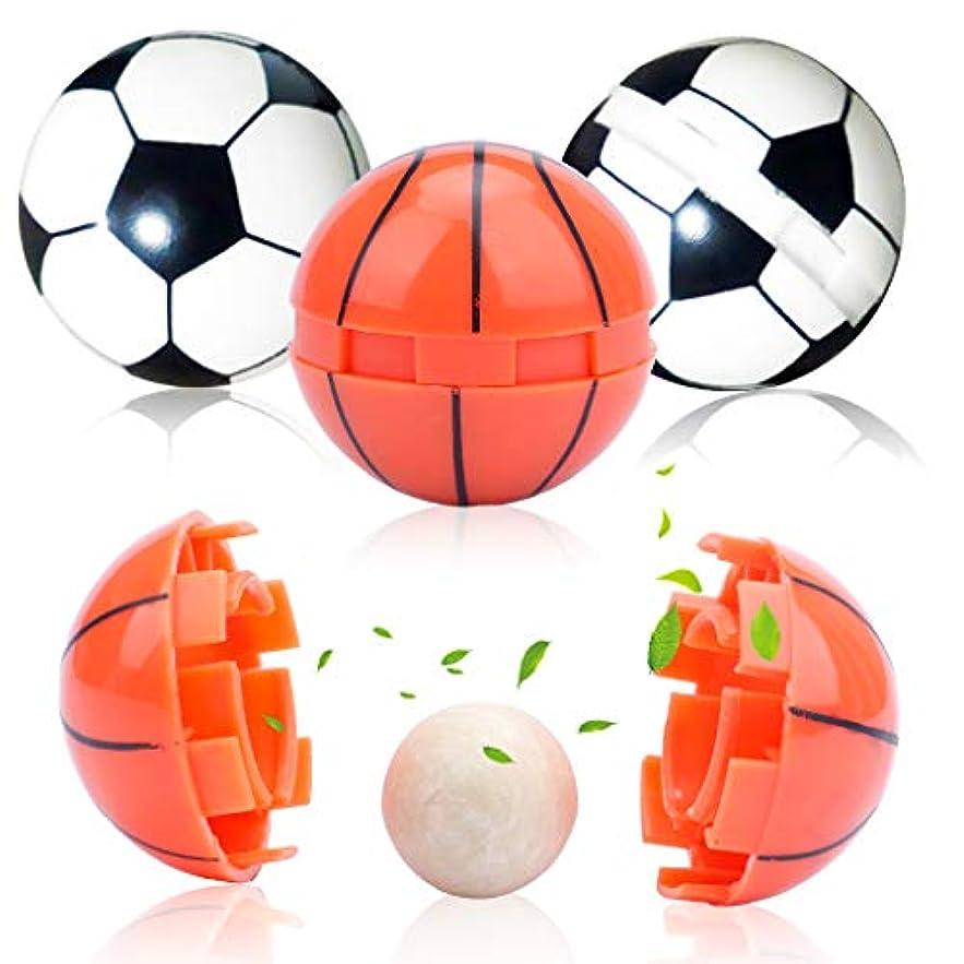 仲良しプライバシー筋肉のAmycute アロマ アロマボール 香り玉 4点セット (18mm)750g 丸型 サッカー&バスケットボールデザイン 香りが長続き