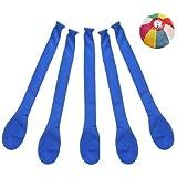 【バルーン】ジェット風船 単色 青色 (100入)  / お楽しみグッズ(紙風船)付きセット