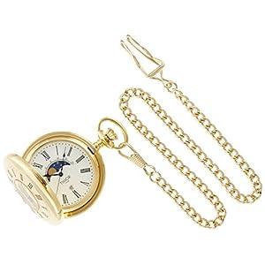 [ティモール]TIMOR 懐中時計 ポケットウォッチ ナポレオン(デミハンター) ムーンフェイズ クォーツ TP104JA01 【正規輸入品】