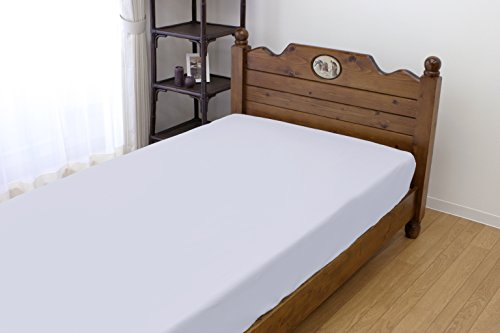 メリーナイト 綿100% ベッドシーツ シングル サックス 282101-76