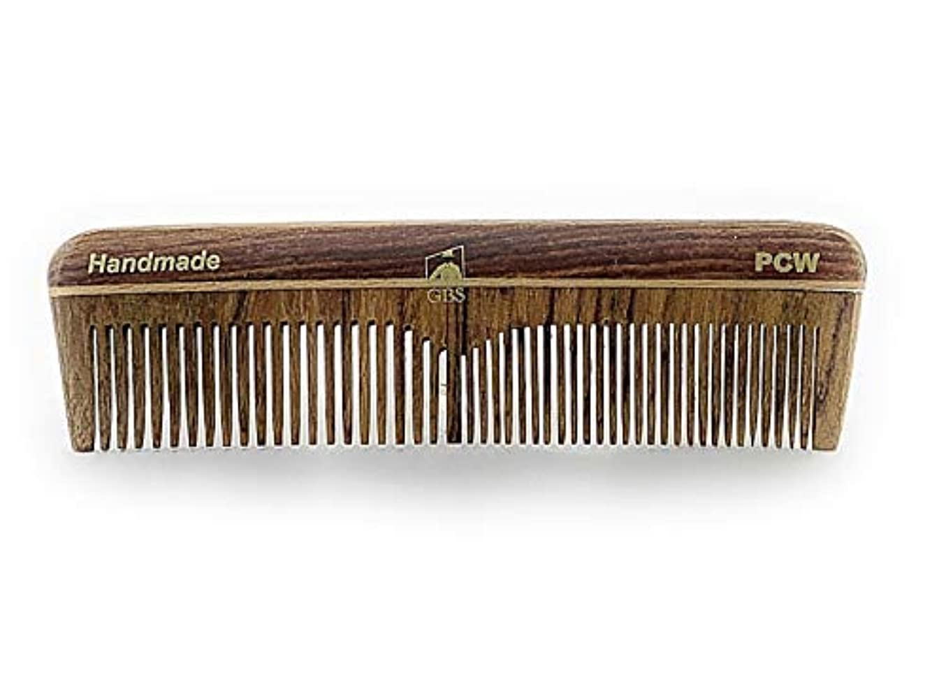 キャンドル地域切断するGBS Natural Wood Handmade Pocket Beard and Hair Comb - Comb 5