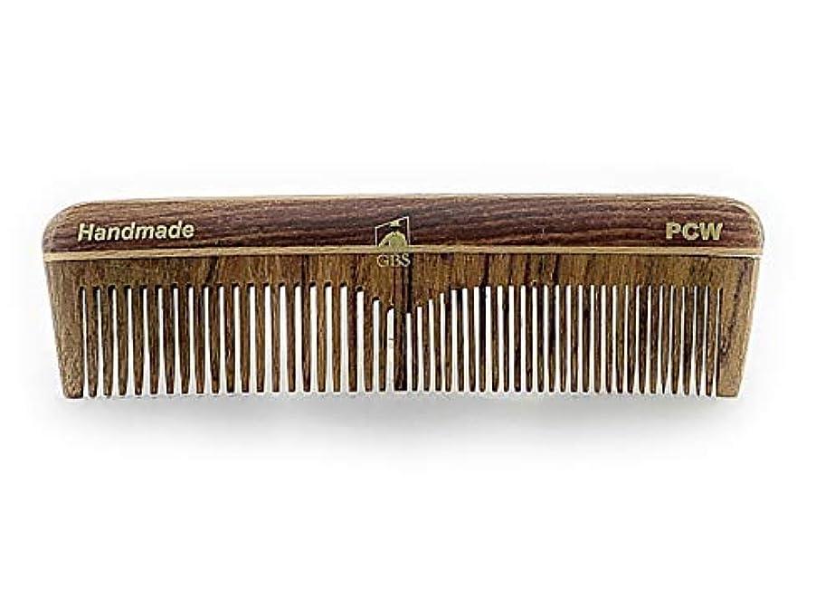 無人まもなく造船GBS Natural Wood Handmade Pocket Beard and Hair Comb - Comb 5