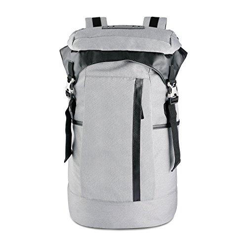 Niksa バックパック リュックサック PC収納 大容量 撥水性 耐磨耗 登山 旅行 バッグ (灰白)