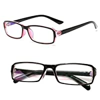 パソコン用眼鏡 PCメガネ ブルーライト 青色光 UV カット メンズ レディース クリーンクロス ケース セット クリアレンズ ピンクフレーム
