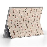 Surface go 専用スキンシール サーフェス go ノートブック ノートパソコン カバー ケース フィルム ステッカー アクセサリー 保護 ネイティブ柄 オレンジ 緑 010720