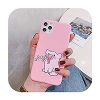 かわいい漫画豚プリント電話ケースiphone 11プロマックスXSマックスX XRケースiphone 6 s 8 7プラスソフトカバーファッションカップルケース-スタイル2-iPhone XSMAXの場合