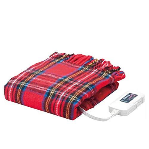 Sugiyama 電気ひざ掛け毛布 レッド 140×82cm...
