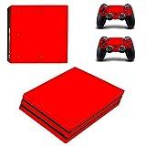 Hzjundasi ボディラップステッカースキンデカールプロテクターフェイスプレート for Playstation 4 Pro PS4 Pro Console&Controller #0162