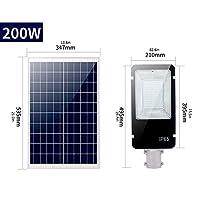 ソーラーウォールライト屋外ホーム防水ガーデンled多機能リモコンスマートランプ屋外ハイパワーハイポール街路灯,200W