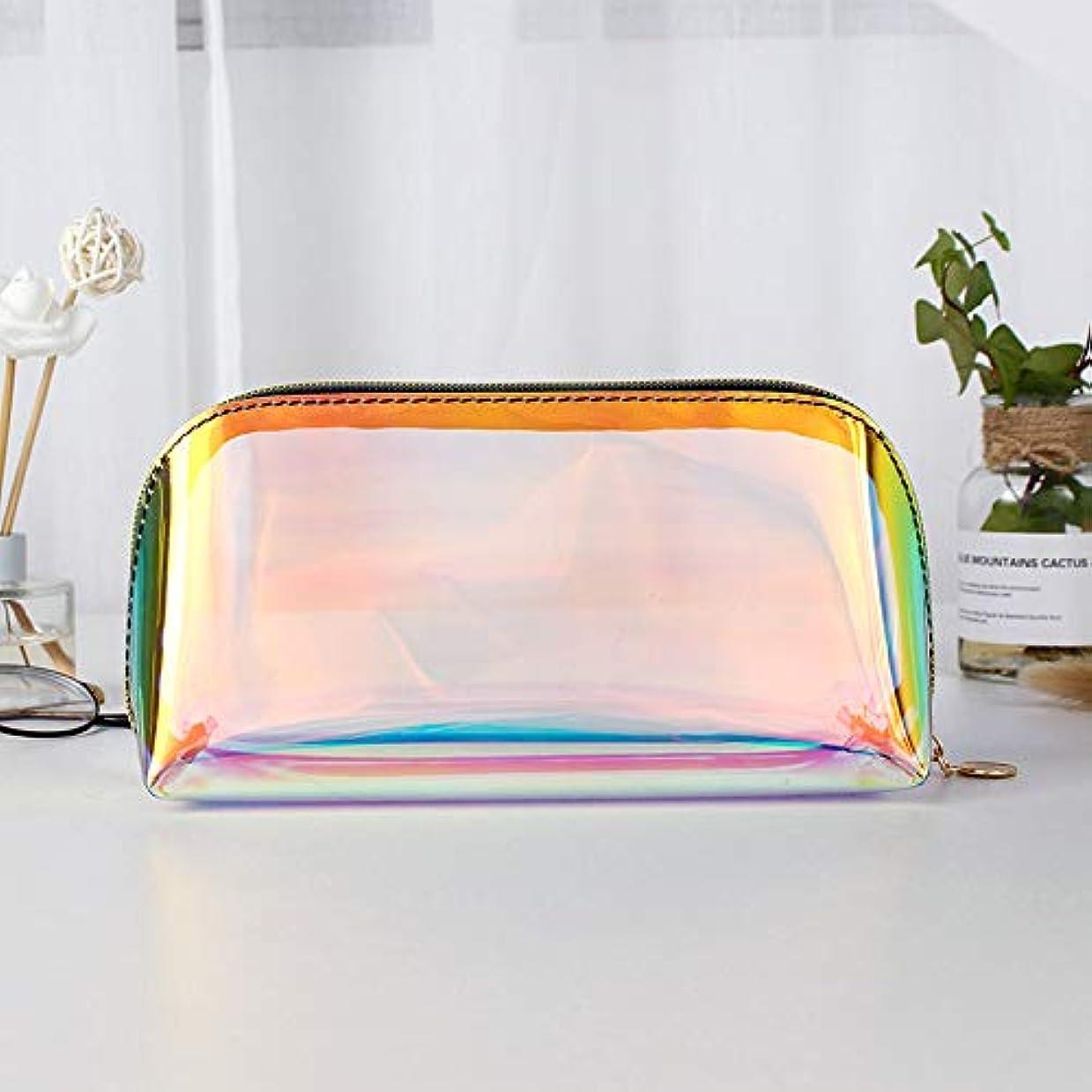 使用法靴危険にさらされている透明な虹レーザーホログラムコスメティックバッグオーガナイザー大F-色のファッション化粧品トラベルバッグホログラフィックメイクアップバッグYY,L