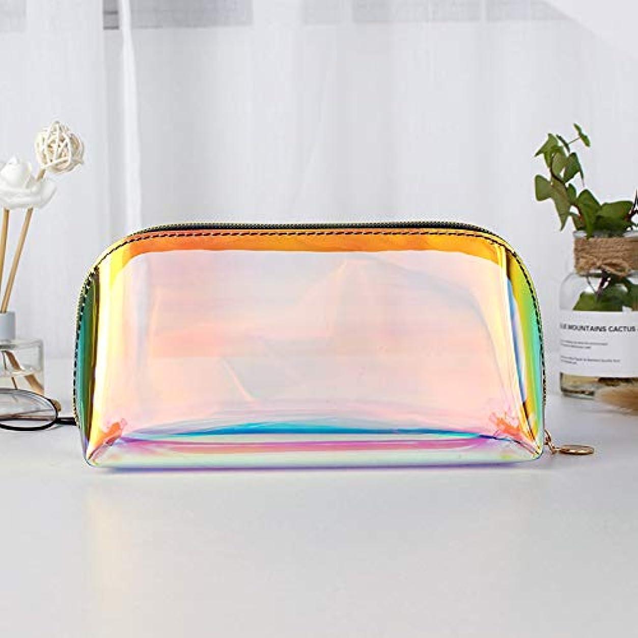 迫害者ボイコット透明な虹レーザーホログラムコスメティックバッグオーガナイザー大F-色のファッション化粧品トラベルバッグホログラフィックメイクアップバッグYY,L