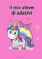 Il mio album di adesivi: Motif Unicorno 5 | 30 pagine | A4 | Vuoto | Idea regalo |  Nessuna carta siliconica | Senza sticker