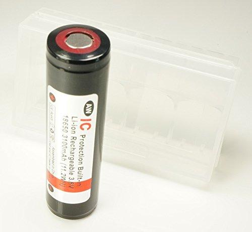 【正規品】 AW 保護回路 ( プロテクト ) 搭載 リチウムイオンバッテリー (18650/310...