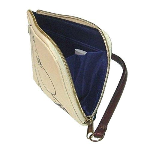MOOMIN ムーミン - 帆布のパスケース&小銭入れΦトロール(アイボリー 生成り)