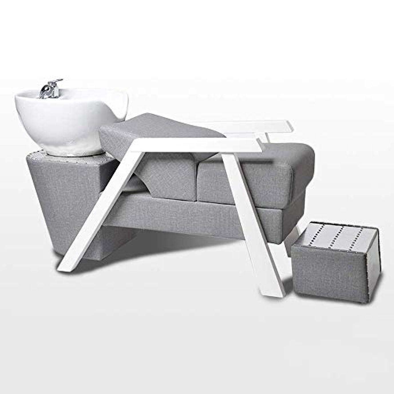 配分倍率伝導シャンプーチェア、鉱泉の美容院装置のための簡単な同じ高さのベッドのシャンプーボールの理髪の流しの椅子