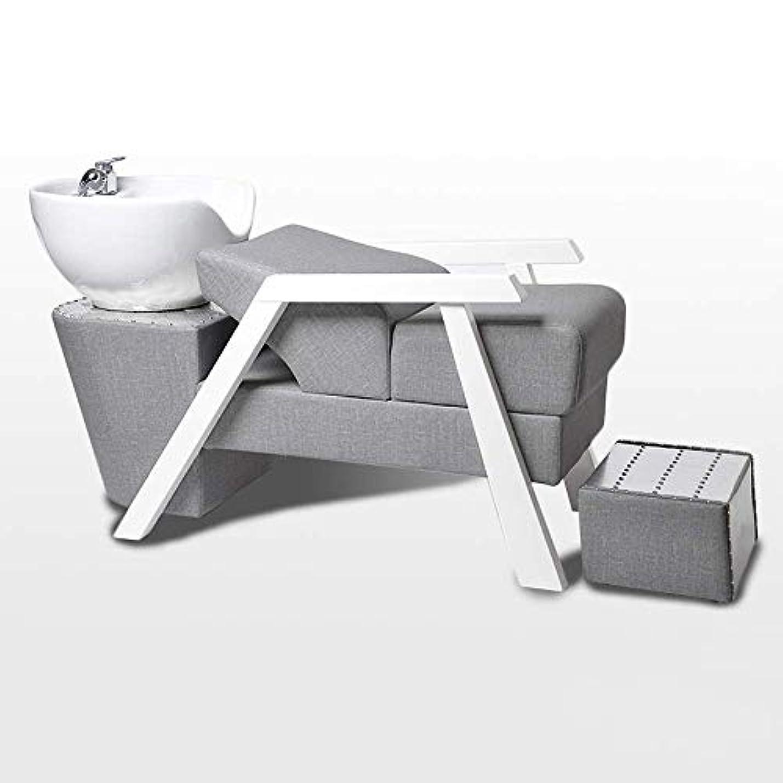 クラフト枯渇延期するシャンプーチェア、鉱泉の美容院装置のための簡単な同じ高さのベッドのシャンプーボールの理髪の流しの椅子
