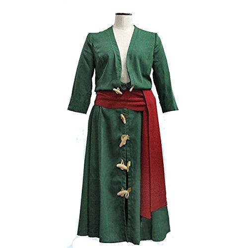 ワンピース ロロノア・ゾロ コスプレ 衣装 2点 セット 二年後 大人用コスチューム グリーン メンズ zoro