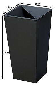 トンボ ユニード カクス ごみ箱 9L ブラック S-36
