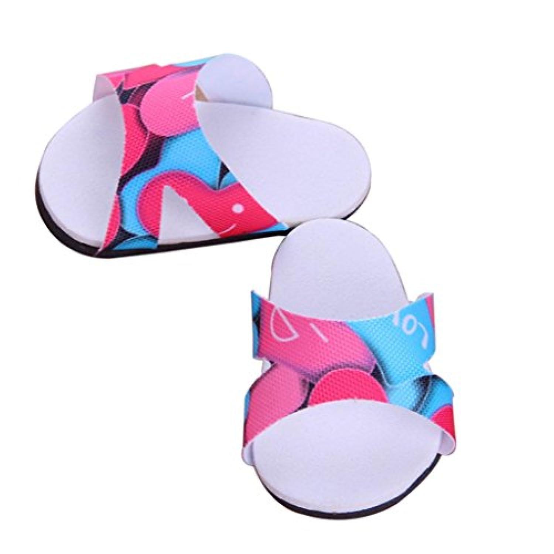 ノーブランド品  かわいい 靴  スリッパ フラット   18インチアメリカ人形用  7色選べる - 03