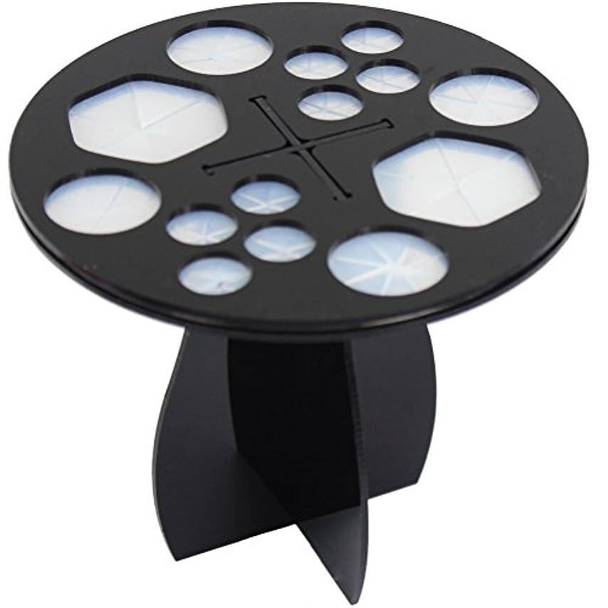 一節ソーダ水ゲインセイ(メイクアップエーシーシー) MakeupAcc メイクブラシ干しラック ブラシ収納 アクリル乾かすブラシフレーム メイクアップブラシホルダー  ラウンド型 3色 (黒い) [並行輸入品]