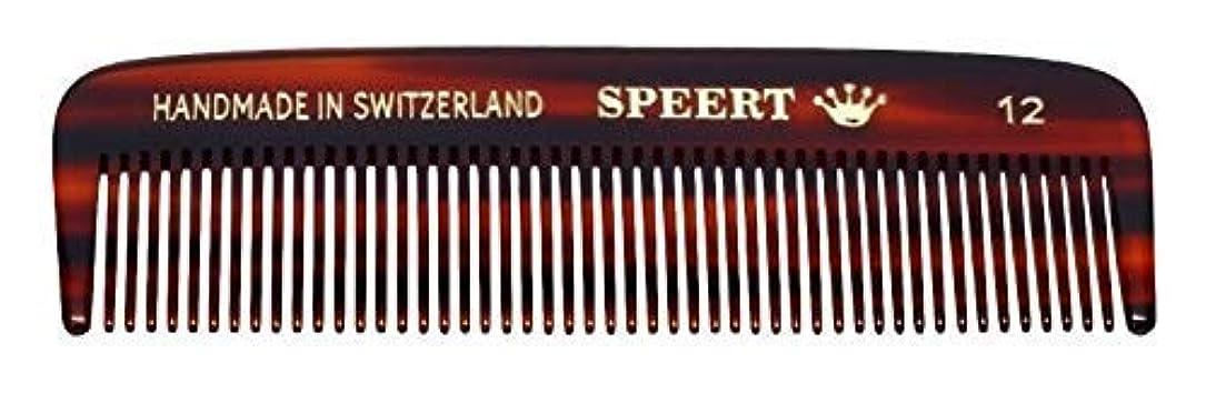 シャックル従う抑制Hand-made tortoise comb #12 by Speert [並行輸入品]
