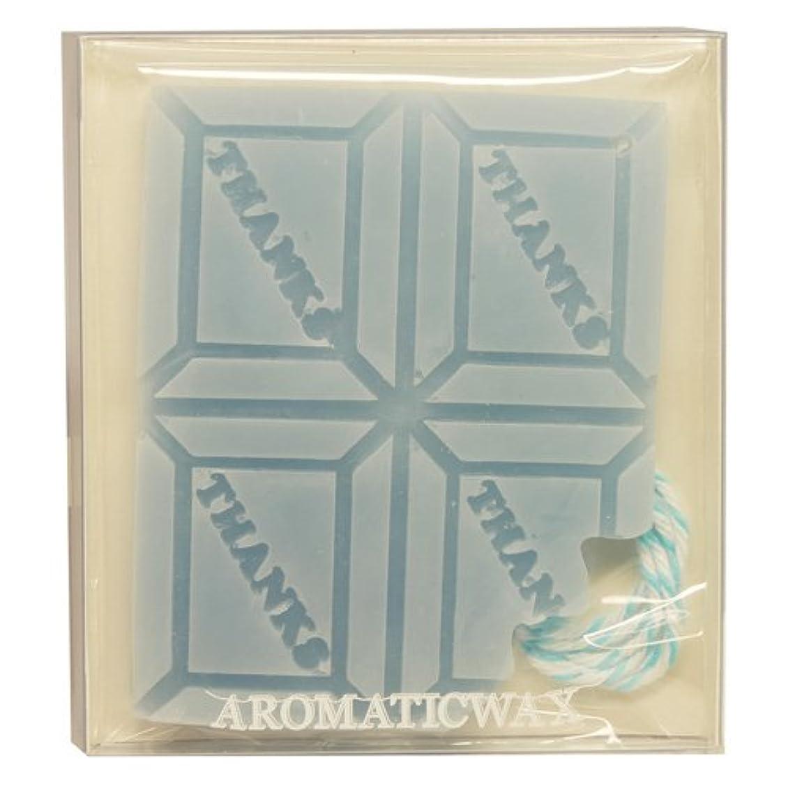 のどジャケット布GRASSE TOKYO AROMATICWAXチャーム「板チョコ(THANKS)」(BL) ローズマリー アロマティックワックス グラーストウキョウ