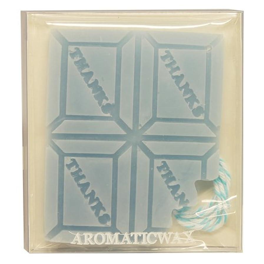 看板ウェイター遠いGRASSE TOKYO AROMATICWAXチャーム「板チョコ(THANKS)」(BL) ローズマリー アロマティックワックス グラーストウキョウ
