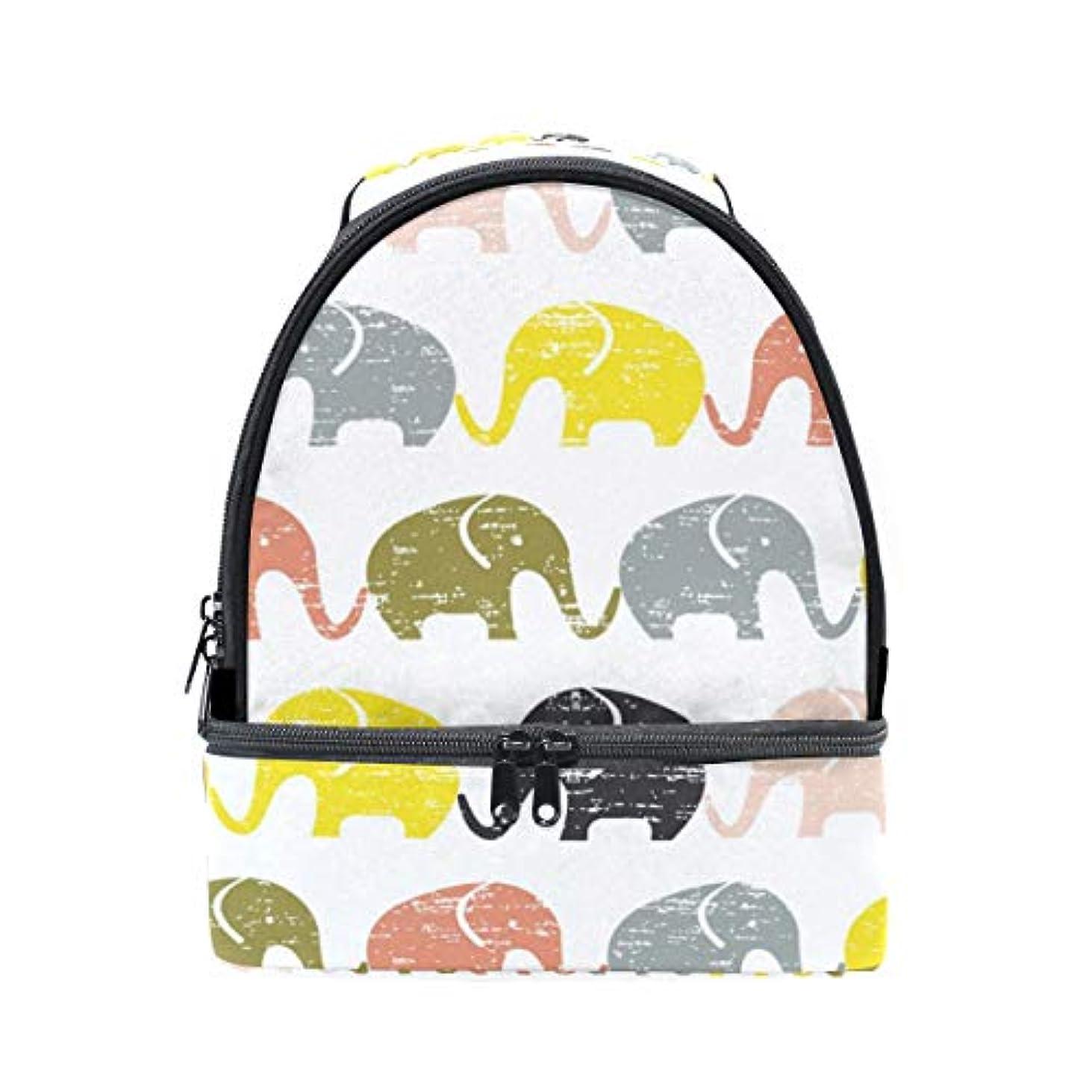 良性バルセロナ教室旅人 ランチバッグ ダブルデザイン 手提げ 弁当袋 レトロ 小さい象柄 多色 冷蔵ボックス キャンプ用品 保冷 保温 学生 通勤族用