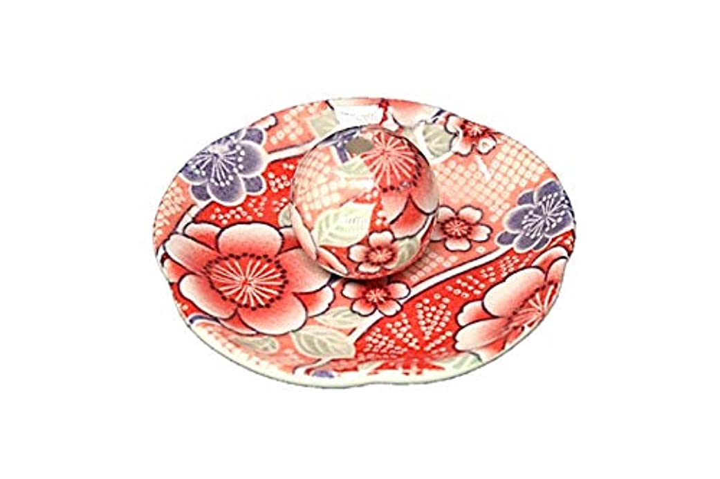 掃く見ました悔い改める紅染 花形香皿 お香立て お香たて 日本製 ACSWEBSHOPオリジナル