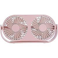 SHANGRUIYUAN-Mini Fan Multifunction Summer Lightweight Desktop Mini Fan Plastic Electric Fan Home Office Fans Ventilator (Color : Pink)
