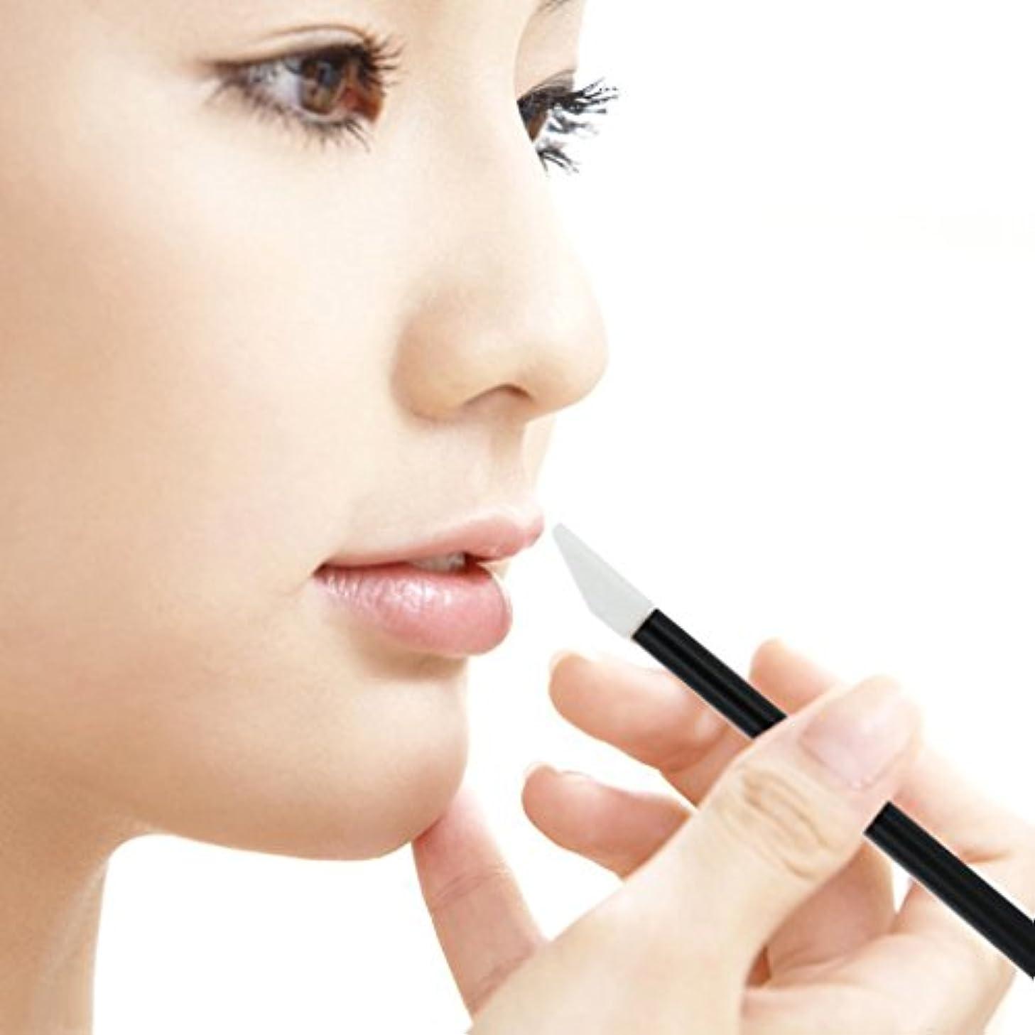 ルームベスビオ山オプショナルZafina リップブラシ 使い捨て 便利 化粧用品 メイクアップ  化粧ブラシ50本セット  (ブラック)