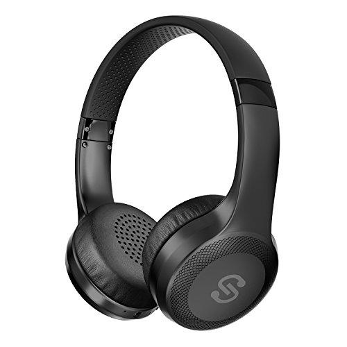 【 ワイヤレス&有線両用】SoundPEATS(サウンドピーツ) A1 Pro Bluetooth ヘッドホン 高音質 ワイヤレス&有線両用 [メーカー1年保証] 最大25時間再生 40mm大口径ドライバー CVCノイズキャンセリング搭載 マイク付き ハンズフリー通話 ブルートゥース ヘッドホン Bluetooth イヤホン ワイヤレスヘッドホン ブラック