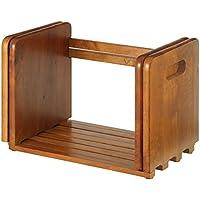 本立て ブックスタンド 卓上 本棚 木製 スライド式 伸縮 ラック マガジンラック すべり止め付き ブラウン