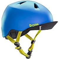 bern,バーン,子供用,ヘルメット,スケボー,スノボー,自転車,ジャパンフィット●NINO MATTE-BLUE VISOR付 VJBMBLV