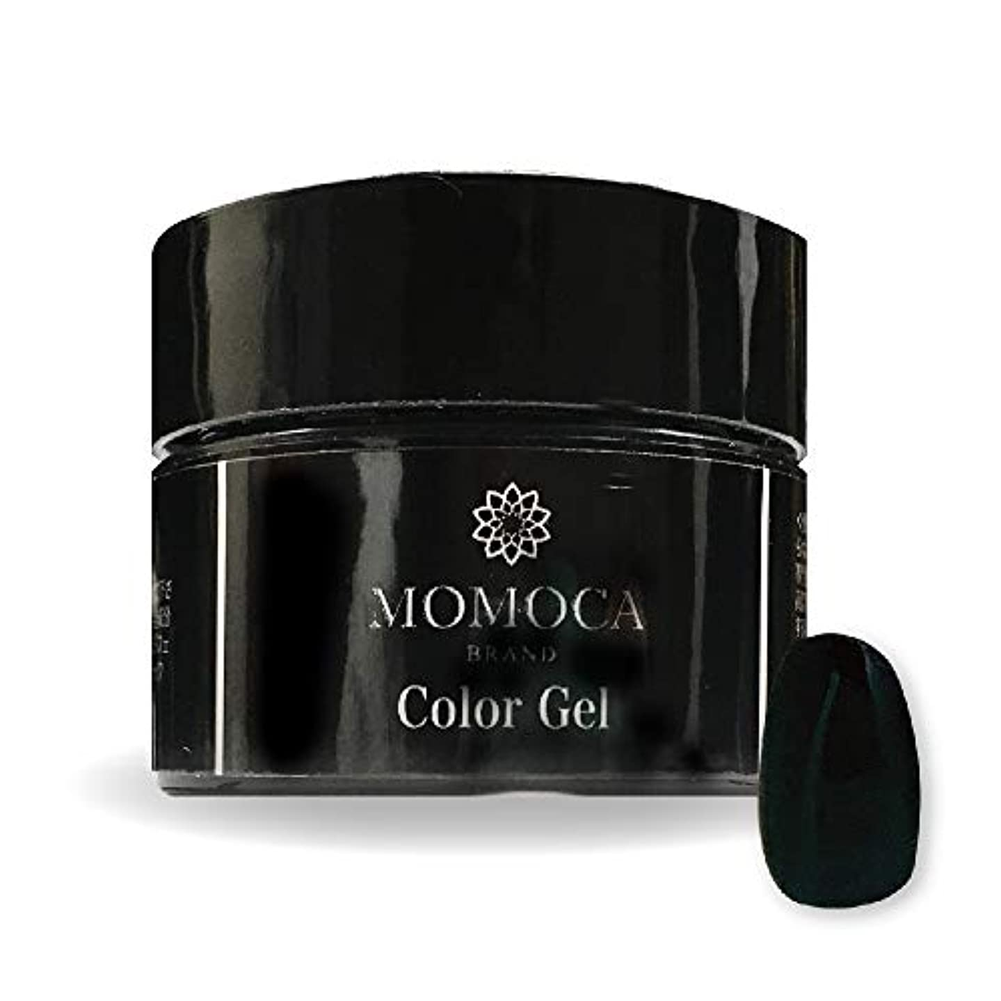 略す放棄するドリンクMOMOCA モモカ ジェルネイル サロン品質 高発色 長持ち プロ仕様 ネイルサロン ネイリスト (006M Satin black サテンブラック)