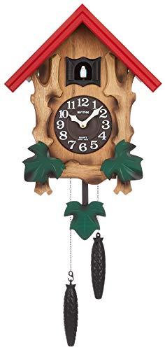鳩時計 掛け時計 カッコーメルビルR 本格的ふいご式 リズム時計 4MJ775RH06