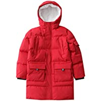 Hiheart Boys Girls Thick Padded Warm Coat Mid-Long Winter Parka