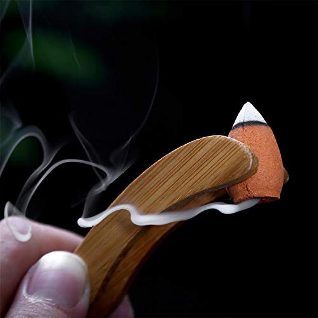 ガード時代遅れ考古学者AGVTUO 40pcs / Box Natural Sandalwood Pagoda Incense Backflow Cones Grain Scented Indoor Relaxing Relieve Stress