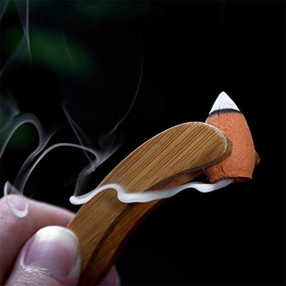 割合グリップダイアクリティカルAGVTUO 40pcs / Box Natural Sandalwood Pagoda Incense Backflow Cones Grain Scented Indoor Relaxing Relieve Stress
