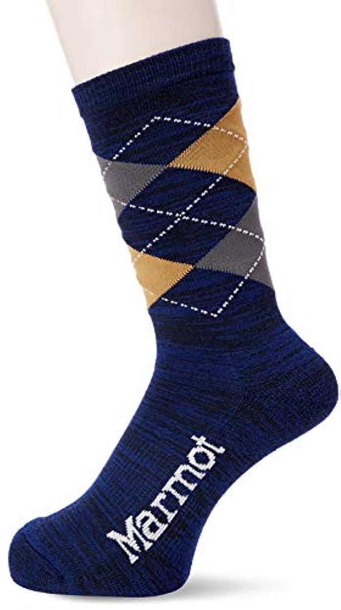 プランター弾力性のある部[マーモット] Climb PP Argyle Socks MJA-F7346