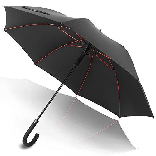 傘 長傘 メンズ レディース ワンタッチ 丈夫 撥水 耐風 Teflon加工 210T高強度グラスファイバー 軽量 大型 梅雨対策 晴雨兼用 ジャンプ傘 紳士傘 自動開けステッキ傘 130cm 収納ポーチ付き 生涯保証付き