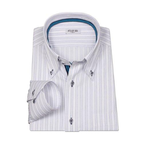 (アトリエサンロクゴ) atelier365 ワイシャツ 新素材ストレッチ 長袖/oth-ml-sre-1073-LL-43-84-AST08