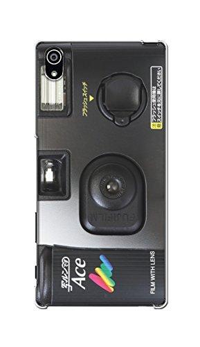 ドコモ エクスペリア Z5 プレミアム Xperia Z5 Premium SO-03H ケース カバー クリア ハード 【カメラ 017】 NTT docomo レトロ カメラ 写ルンです