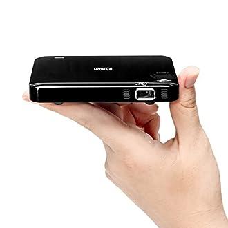 サンワダイレクト モバイルプロジェクター HDMI バッテリー/スピーカー内蔵 軽量128g 静音 三脚対応 400-PRJ023