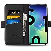 Galaxy S10 ケース 手帳型 S10 ケース 財布型 サイドマグネット式 カード収納 スタンド機能 高級PUレザー 耐衝撃 S10 ケース 手帳 カバー 全面保護 耐摩擦 人気 おしゃれ Hohosb(S10 用, ブラック)